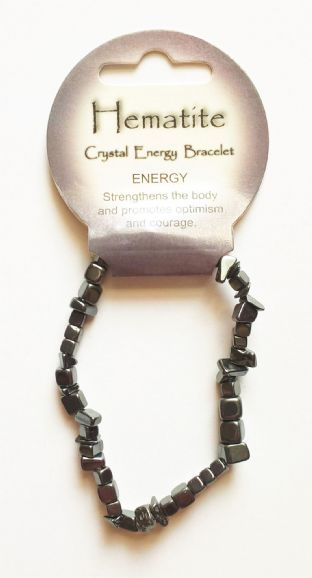 Crystal Energy - Hemtite - Energy - Gemstone Chip Bracelet